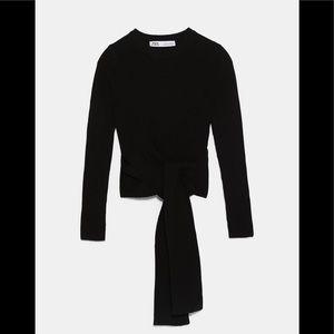 ✨ZARA Tie-at-Waist Sweater
